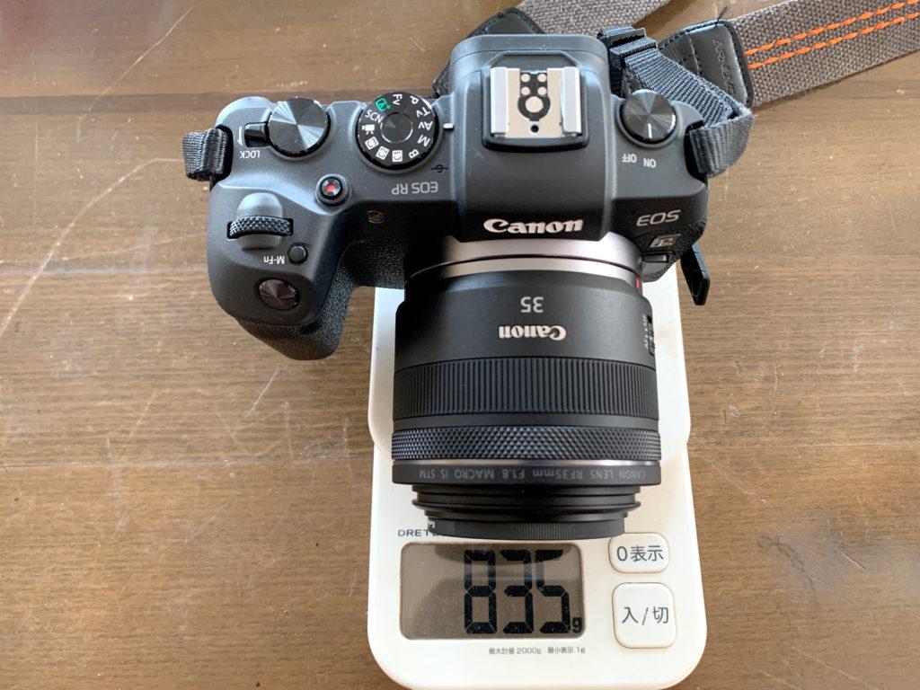 CANON EOS RP RF35mmF1.8 約800g
